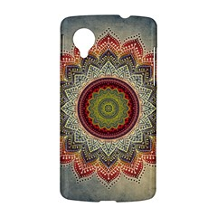Folk Art Lotus Mandala Dirty Blue Red LG Nexus 5