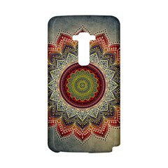 Folk Art Lotus Mandala Dirty Blue Red LG G Flex