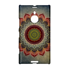 Folk Art Lotus Mandala Dirty Blue Red Nokia Lumia 1520