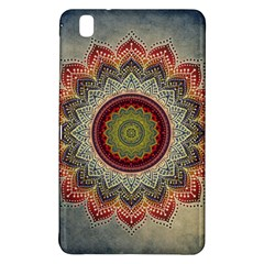 Folk Art Lotus Mandala Dirty Blue Red Samsung Galaxy Tab Pro 8 4 Hardshell Case