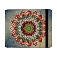 Folk Art Lotus Mandala Dirty Blue Red Samsung Galaxy Tab Pro 8 4  Flip Case