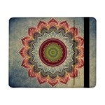 Folk Art Lotus Mandala Dirty Blue Red Samsung Galaxy Tab Pro 8.4  Flip Case Front
