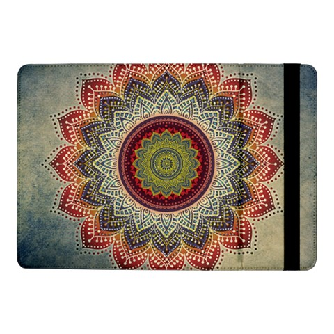 Folk Art Lotus Mandala Dirty Blue Red Samsung Galaxy Tab Pro 10.1  Flip Case