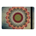 Folk Art Lotus Mandala Dirty Blue Red Samsung Galaxy Tab Pro 10.1  Flip Case Front