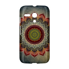 Folk Art Lotus Mandala Dirty Blue Red Motorola Moto G