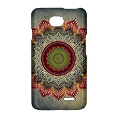 Folk Art Lotus Mandala Dirty Blue Red LG Optimus L70