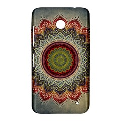 Folk Art Lotus Mandala Dirty Blue Red Nokia Lumia 630
