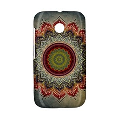 Folk Art Lotus Mandala Dirty Blue Red Motorola Moto E