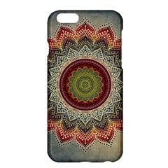 Folk Art Lotus Mandala Dirty Blue Red Apple Iphone 6 Plus/6s Plus Hardshell Case