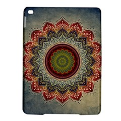 Folk Art Lotus Mandala Dirty Blue Red Ipad Air 2 Hardshell Cases