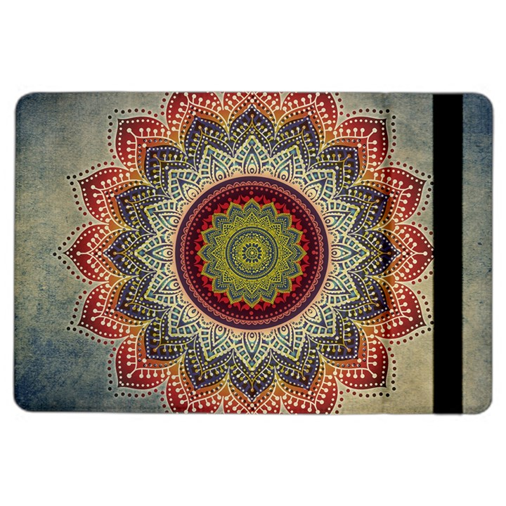 Folk Art Lotus Mandala Dirty Blue Red iPad Air 2 Flip