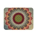 Folk Art Lotus Mandala Dirty Blue Red Double Sided Flano Blanket (Mini)  35 x27 Blanket Back
