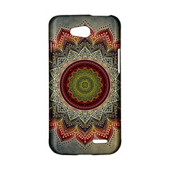 Folk Art Lotus Mandala Dirty Blue Red LG L90 D410