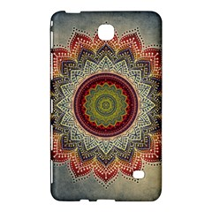 Folk Art Lotus Mandala Dirty Blue Red Samsung Galaxy Tab 4 (7 ) Hardshell Case