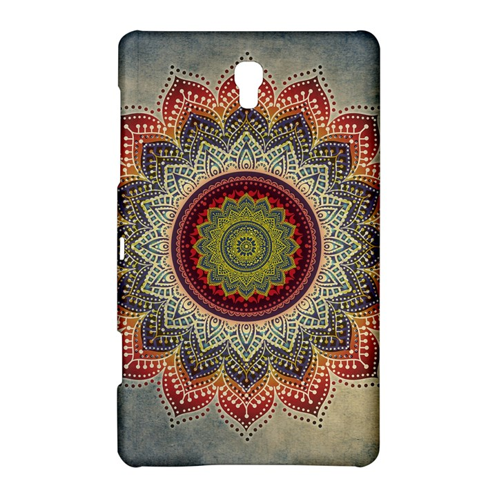 Folk Art Lotus Mandala Dirty Blue Red Samsung Galaxy Tab S (8.4 ) Hardshell Case