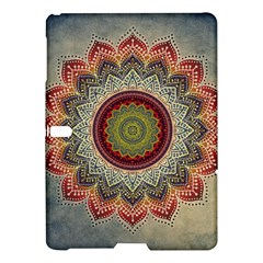 Folk Art Lotus Mandala Dirty Blue Red Samsung Galaxy Tab S (10 5 ) Hardshell Case