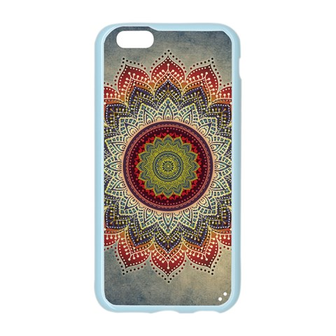 Folk Art Lotus Mandala Dirty Blue Red Apple Seamless iPhone 6/6S Case (Color)