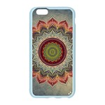 Folk Art Lotus Mandala Dirty Blue Red Apple Seamless iPhone 6/6S Case (Color) Front