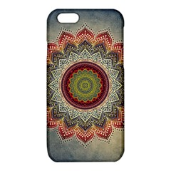 Folk Art Lotus Mandala Dirty Blue Red iPhone 6/6S TPU Case