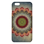 Folk Art Lotus Mandala Dirty Blue Red iPhone 6 Plus/6S Plus TPU Case Front