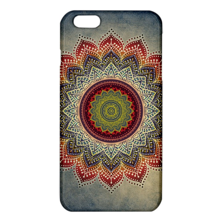 Folk Art Lotus Mandala Dirty Blue Red iPhone 6 Plus/6S Plus TPU Case