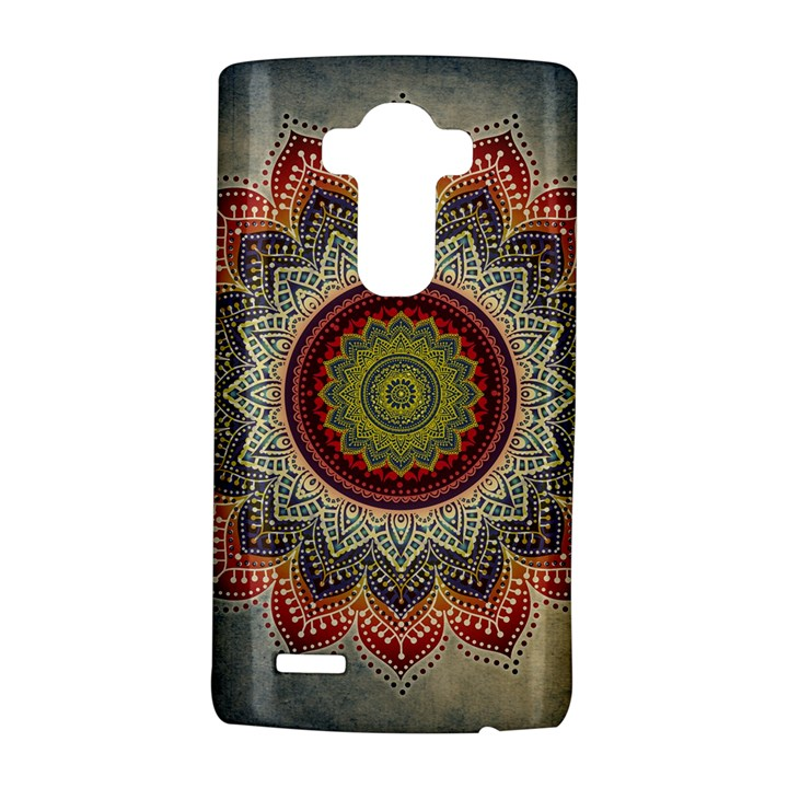 Folk Art Lotus Mandala Dirty Blue Red LG G4 Hardshell Case