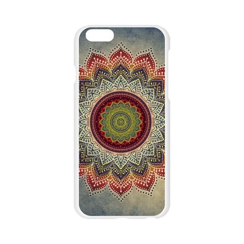 Folk Art Lotus Mandala Dirty Blue Red Apple Seamless iPhone 6/6S Case (Transparent)
