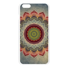 Folk Art Lotus Mandala Dirty Blue Red Apple Seamless iPhone 6 Plus/6S Plus Case (Transparent)
