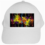 Crazy Multicolored Double Running Splashes Horizon White Cap Front