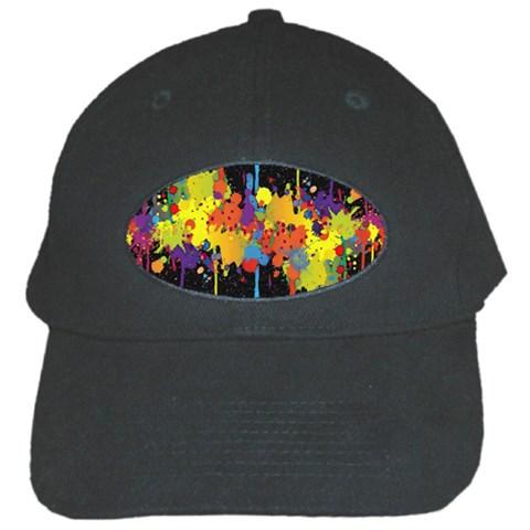 Crazy Multicolored Double Running Splashes Horizon Black Cap