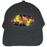 Crazy Multicolored Double Running Splashes Horizon Black Cap Front