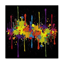 Crazy Multicolored Double Running Splashes Horizon Tile Coasters