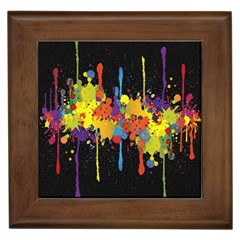 Crazy Multicolored Double Running Splashes Horizon Framed Tiles