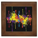 Crazy Multicolored Double Running Splashes Horizon Framed Tiles Front