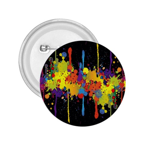 Crazy Multicolored Double Running Splashes Horizon 2.25  Buttons