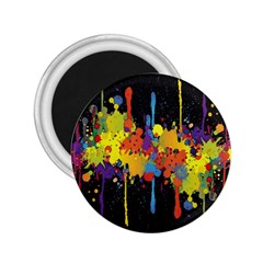 Crazy Multicolored Double Running Splashes Horizon 2 25  Magnets