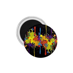 Crazy Multicolored Double Running Splashes Horizon 1.75  Magnets