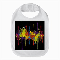 Crazy Multicolored Double Running Splashes Horizon Bib