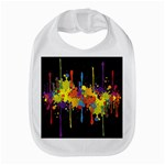 Crazy Multicolored Double Running Splashes Horizon Bib Front