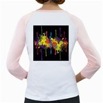 Crazy Multicolored Double Running Splashes Horizon Girly Raglans Back