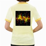 Crazy Multicolored Double Running Splashes Horizon Women s Fitted Ringer T-Shirts Back