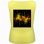 Crazy Multicolored Double Running Splashes Horizon Women s Yellow Tank Top Back