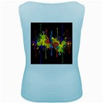 Crazy Multicolored Double Running Splashes Horizon Women s Baby Blue Tank Top Back