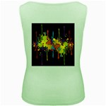 Crazy Multicolored Double Running Splashes Horizon Women s Green Tank Top Back