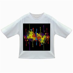 Crazy Multicolored Double Running Splashes Horizon Infant/toddler T Shirts