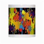 Crazy Multicolored Double Running Splashes Horizon White Mugs Center