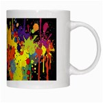 Crazy Multicolored Double Running Splashes Horizon White Mugs Right