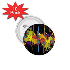 Crazy Multicolored Double Running Splashes Horizon 1.75  Buttons (10 pack)