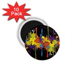 Crazy Multicolored Double Running Splashes Horizon 1.75  Magnets (10 pack)  Front