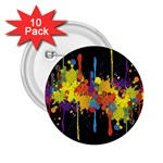 Crazy Multicolored Double Running Splashes Horizon 2.25  Buttons (10 pack)  Front